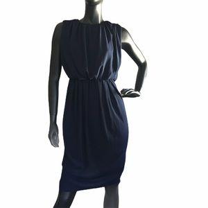 ASOS Blousy Midi Dress Navy Blue NWT